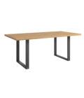 stol industrialny stal drewno