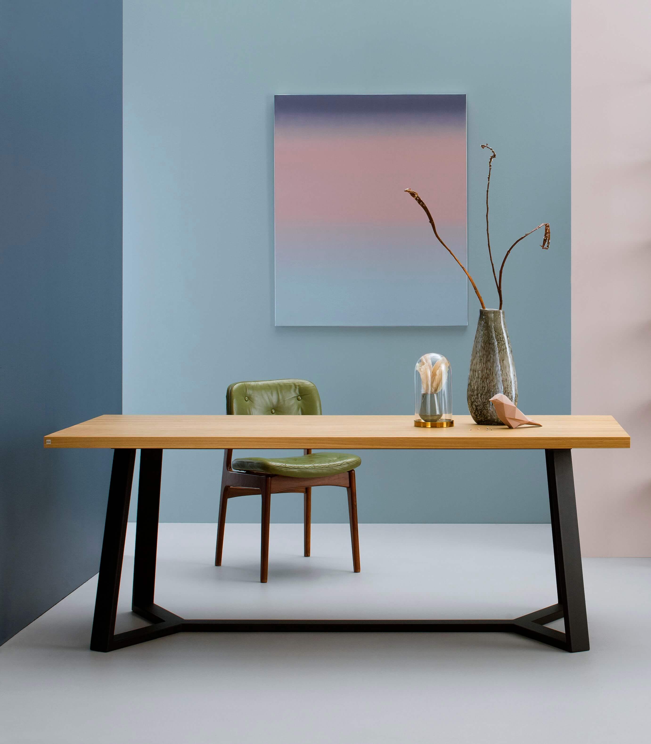 stół industrialny dębowy do jadalni