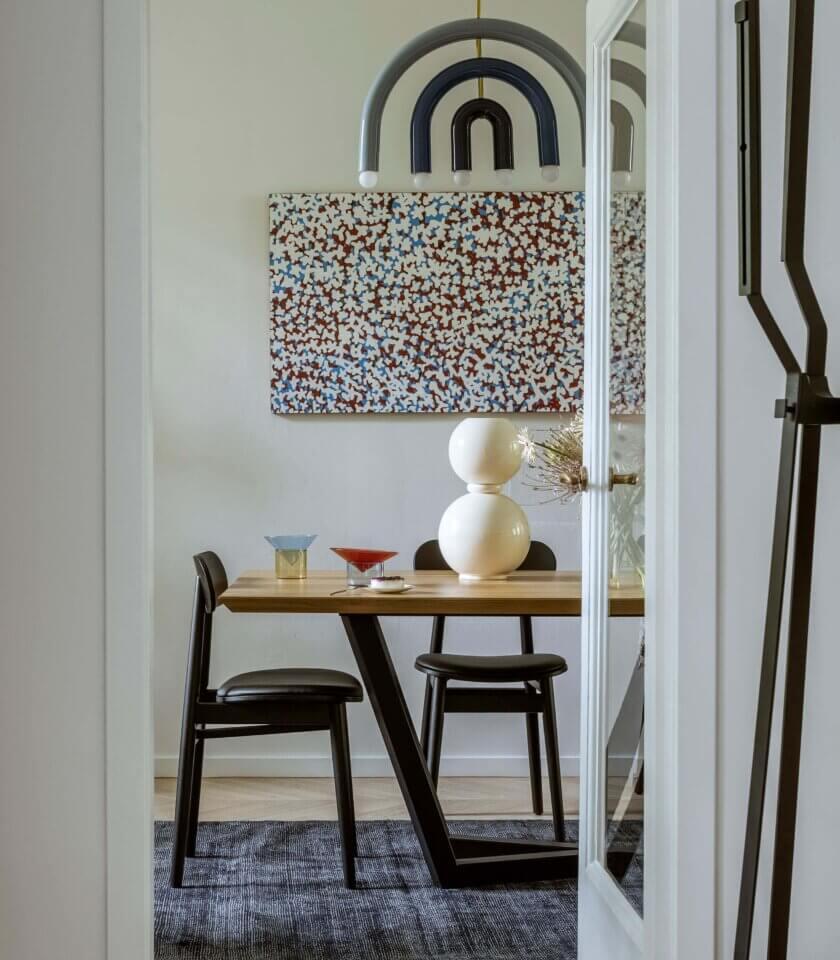 stol elegancki nowoczesny debowy