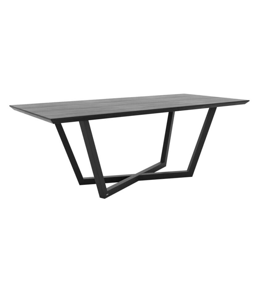 stol czarny elegancki dab
