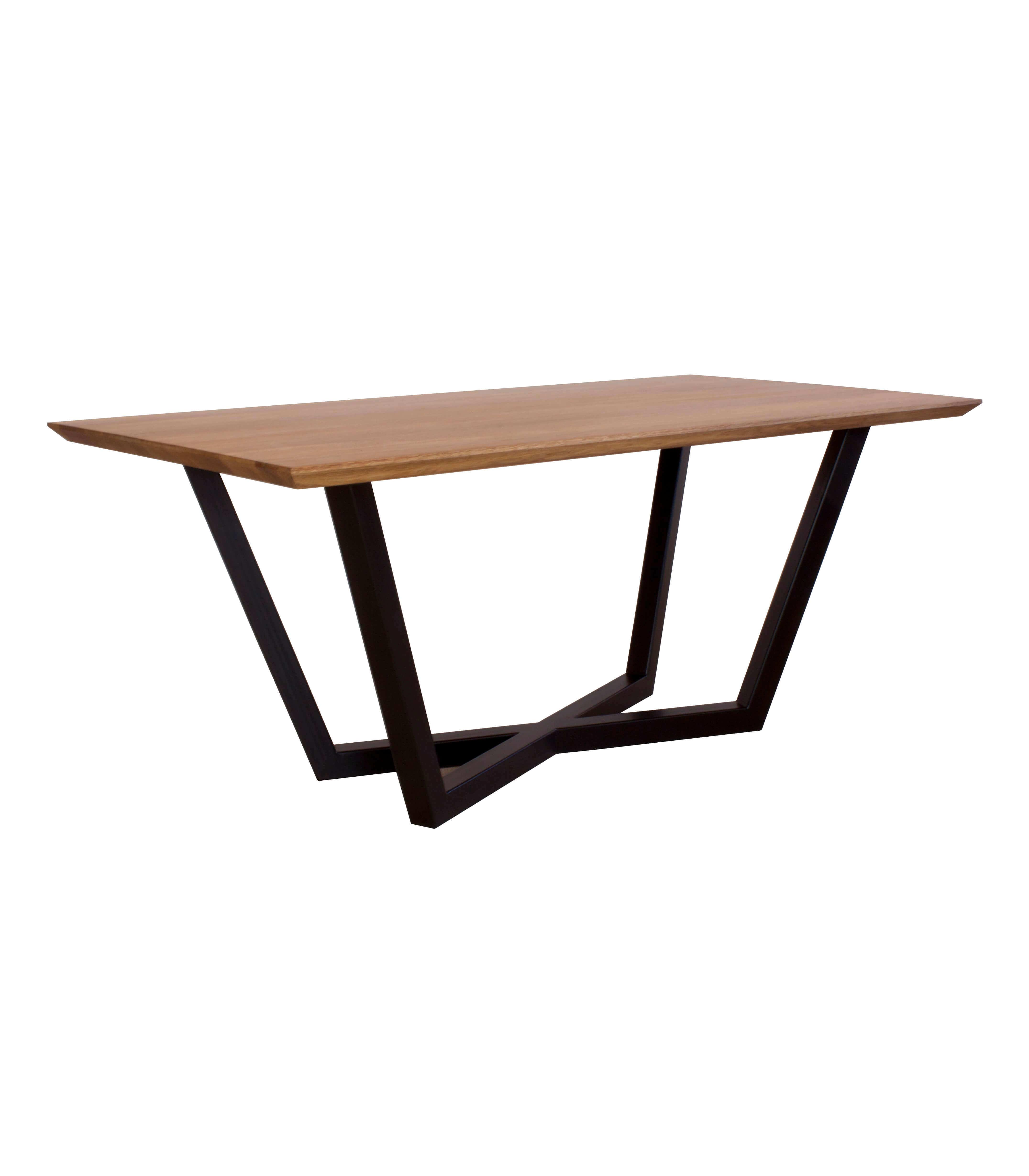stół dębowy czarny drewniany blat do salonu nowoczesny