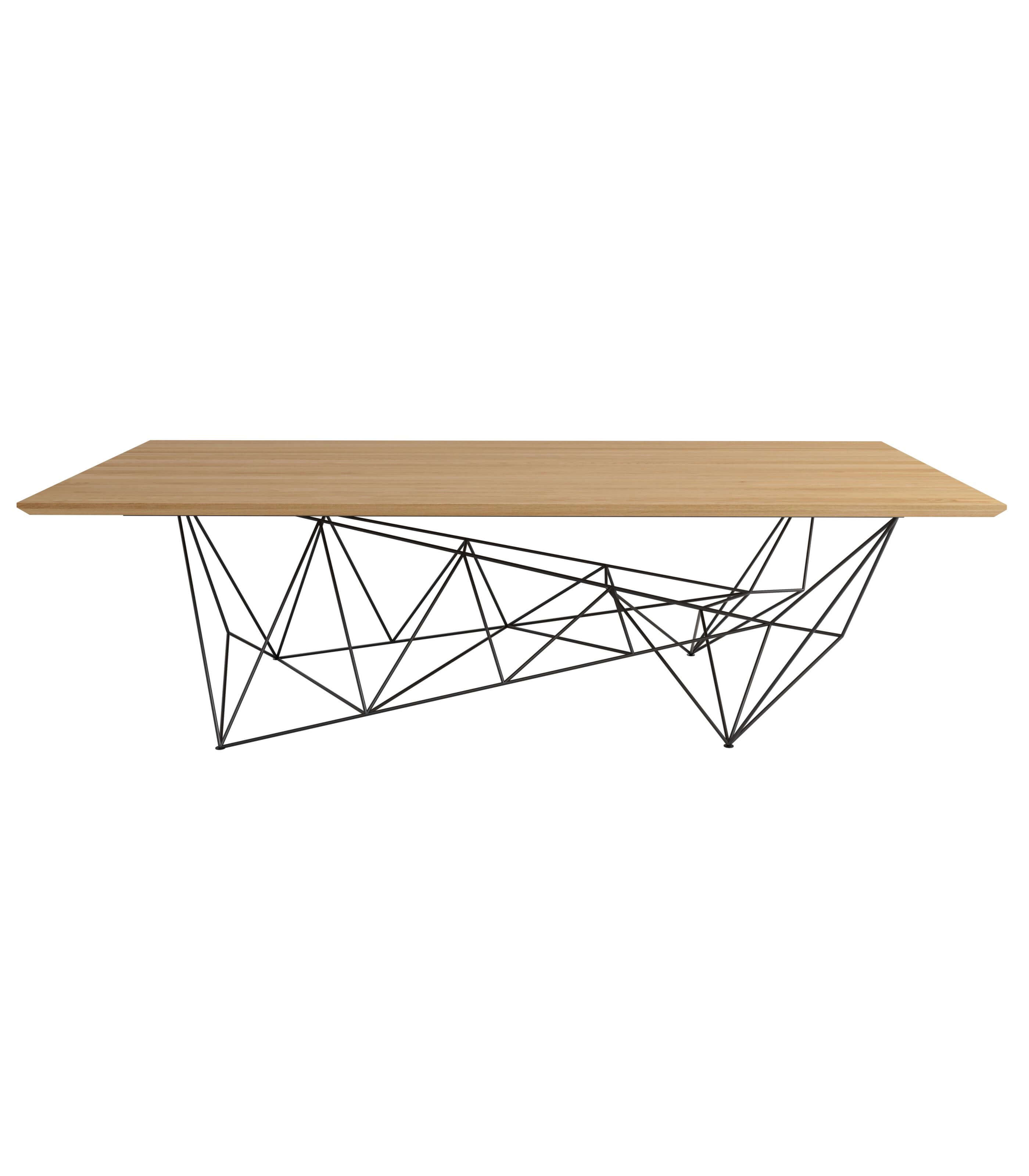 minimalistyczny stół konferencyjny drewniany olejowany blat