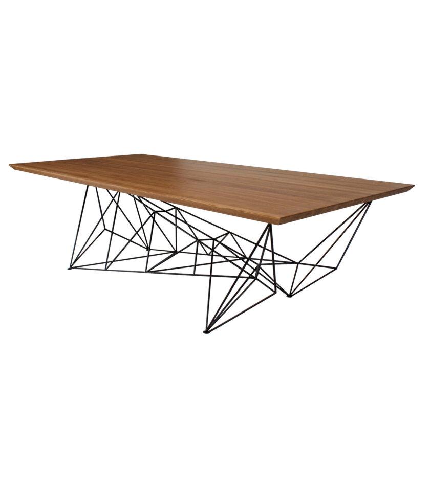 bardzo duzy stol z debowym blatem