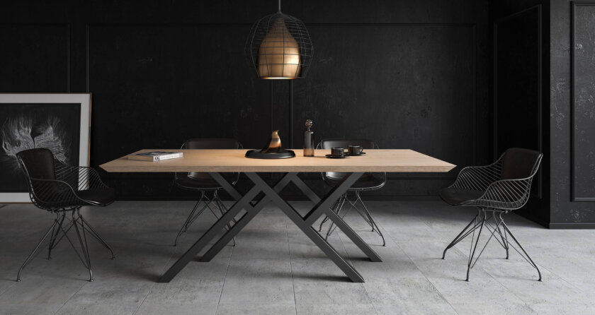 debowy duzy stol do jadalni
