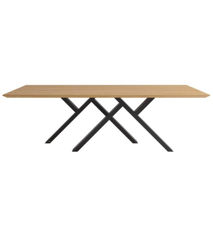 stol industrialny dab stal duzy elegancki