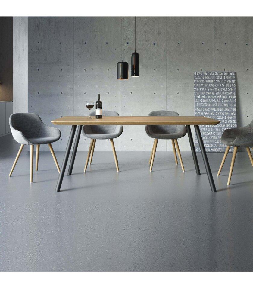 nowoczesny stol czarny debowy skandynawski styl