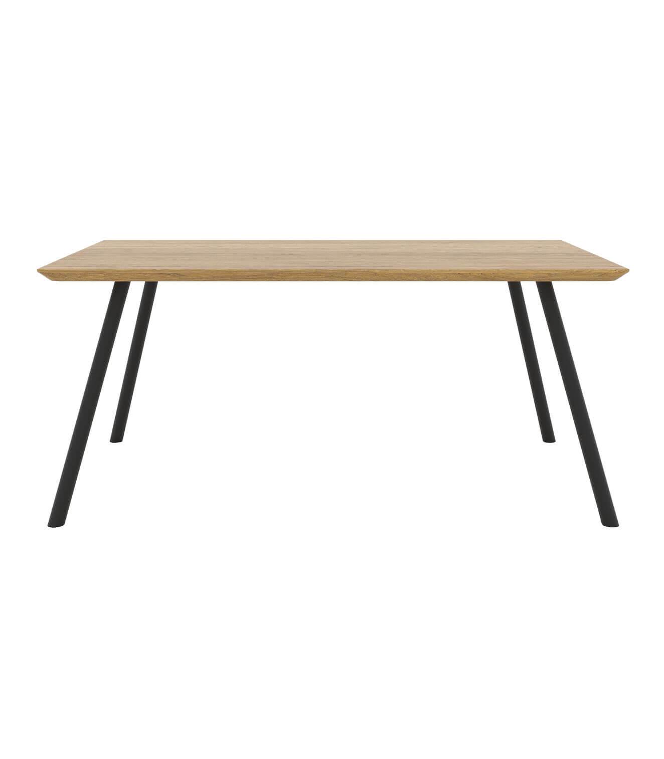 stół nowoczesny z dębowym olejowanym blatem do jadalni