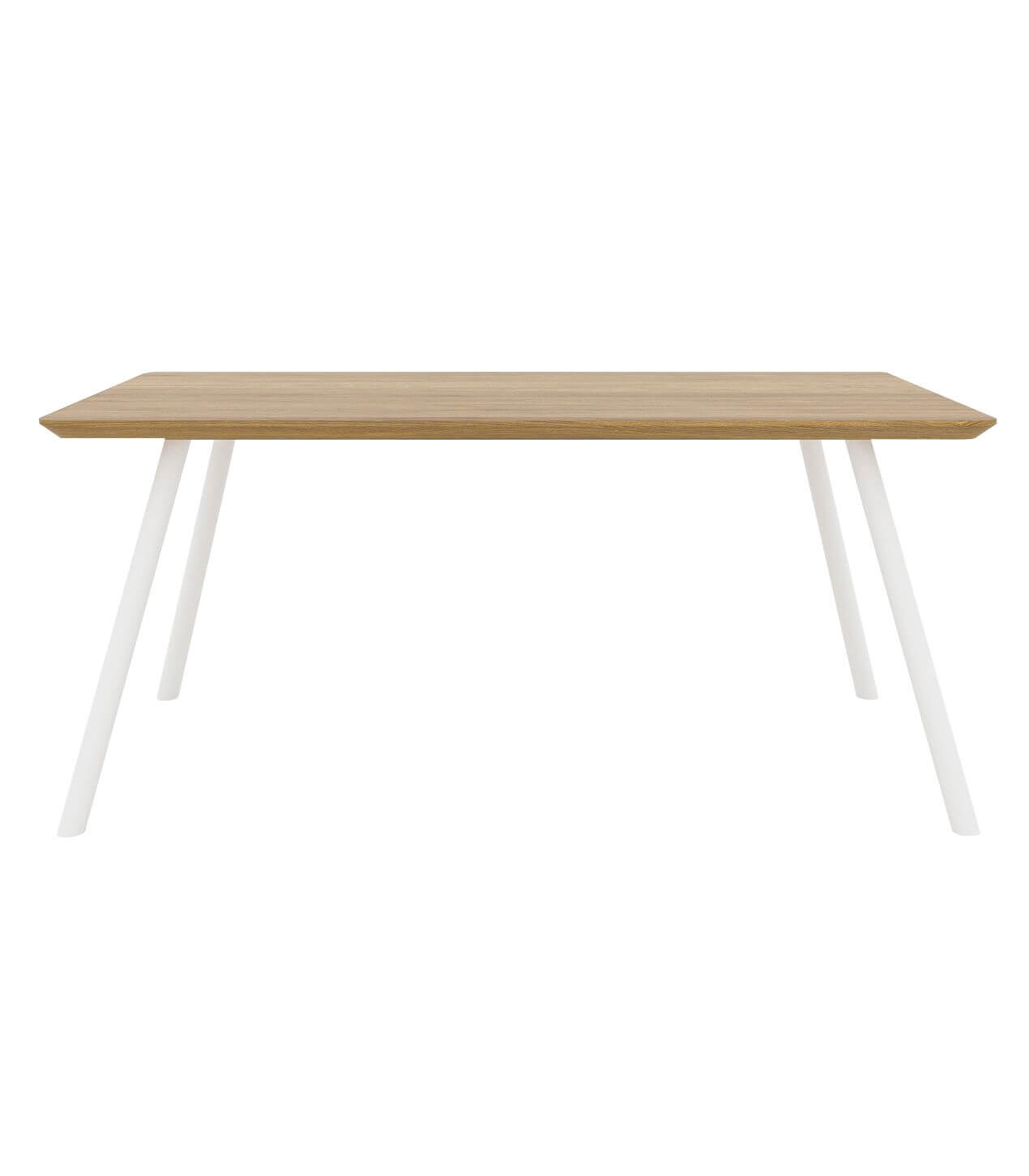 nowoczesny stół jadalniany dębowy blat do salonu