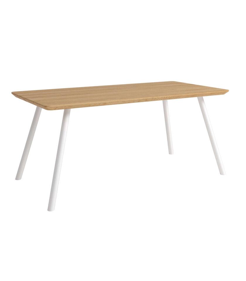stol wygodny jadalniany bialy dab