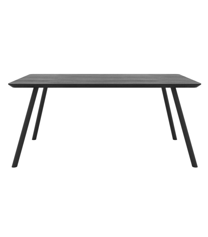 stol z czarnym blatem debowym nowoczesny