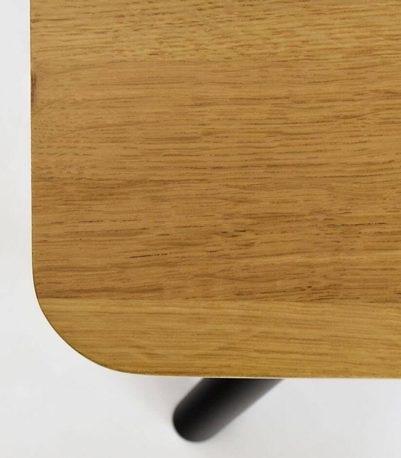 stół dębowy wygodny jadalniany czarny olejowany
