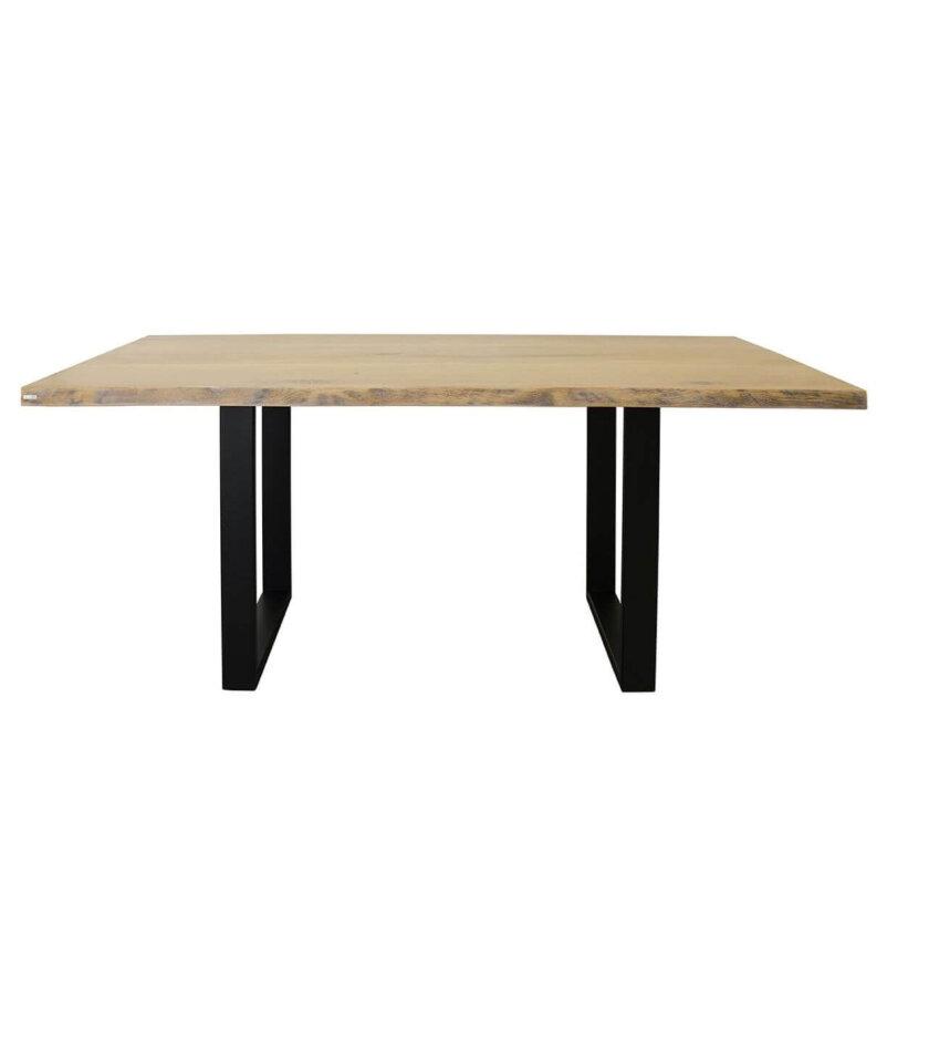 stol industrialny z naturalnymi krawedziami