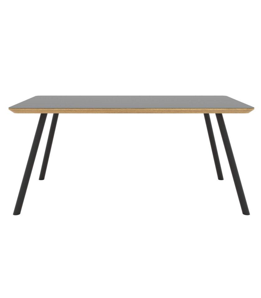 stol czarny minimalistyczny debowy