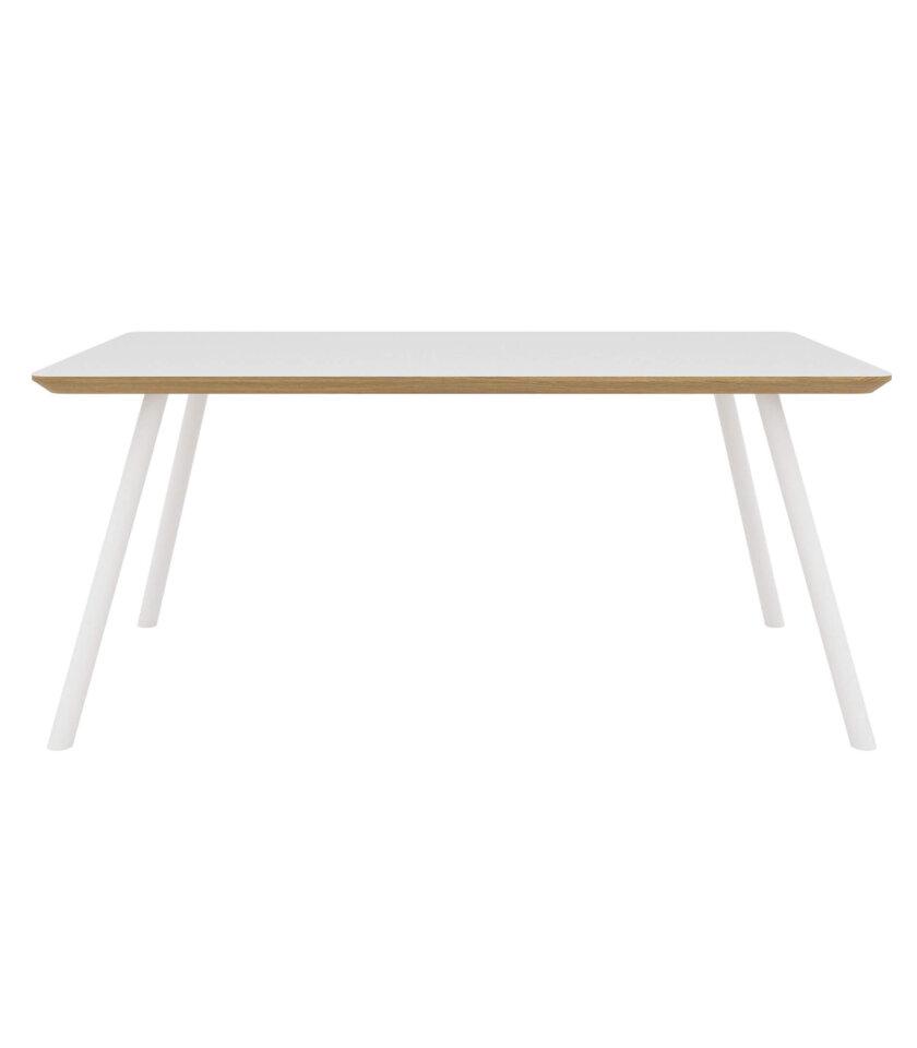 stol z bialym blatem skandynawski nowoczesny design