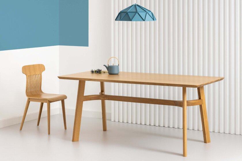 stol skandynawski debowy lity nowoczesny