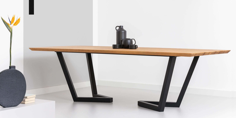 duzy stol do jadalni nowoczesny debowy