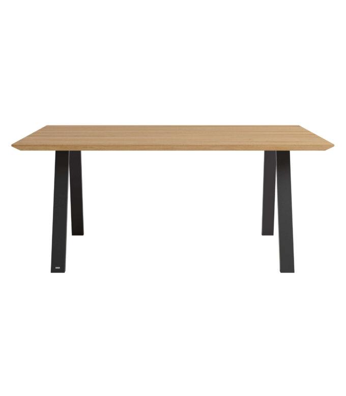 industrialny stol z blatem debowym