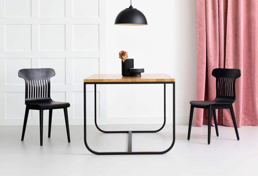 stol loft czarny staldrewno