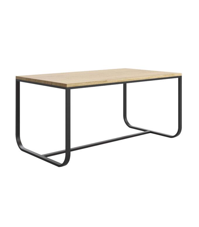 industrialny stol czarny debowy