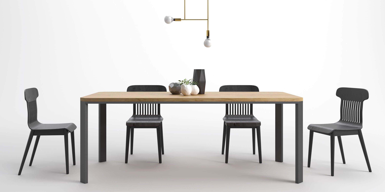 duzy nowoczesny prosty w formie stol