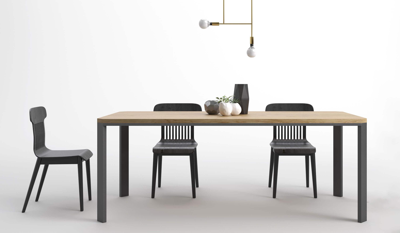 nowoczesny duzy stol do salonu czarny debowy polski design