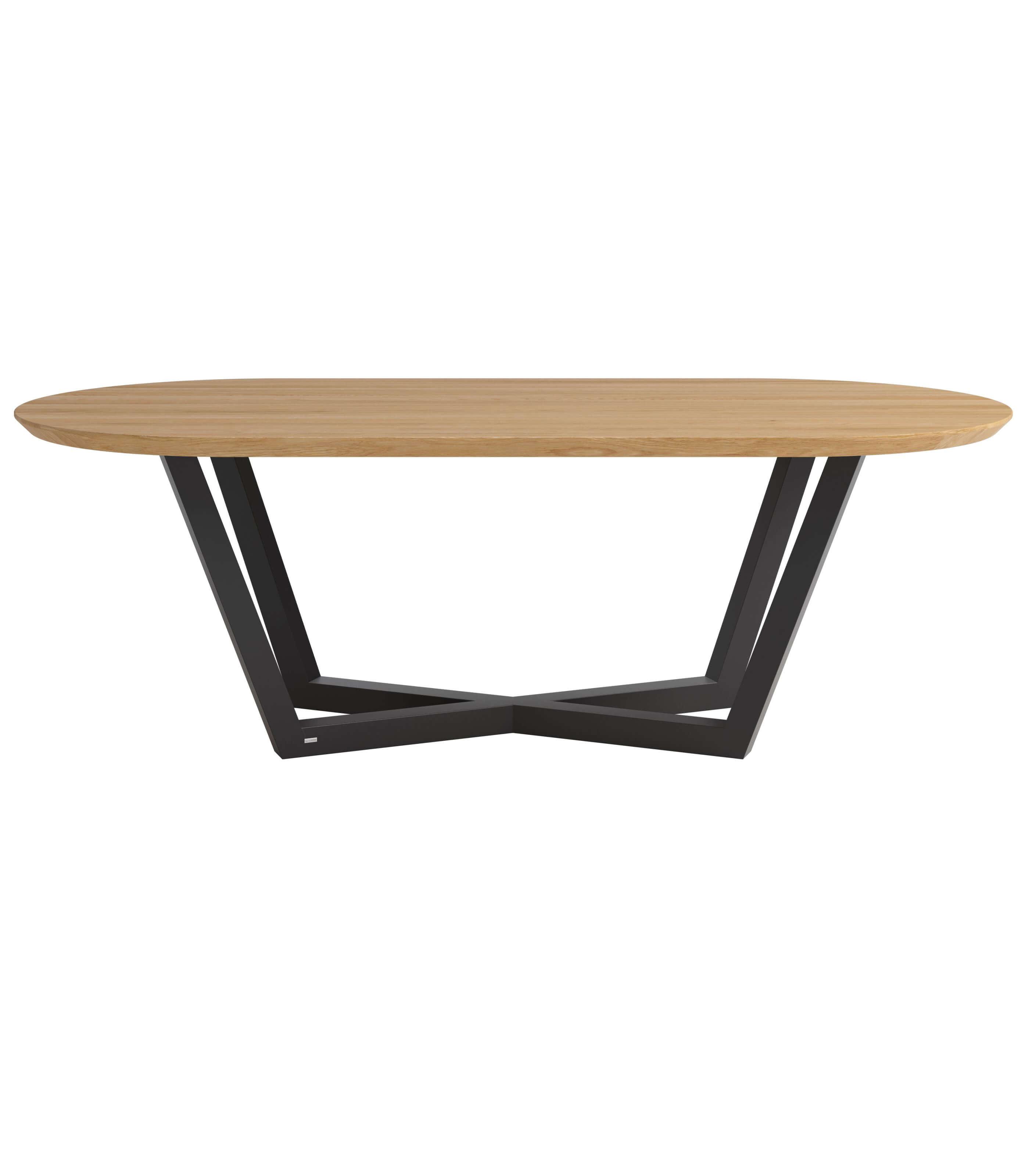 stół owlany nowoczesny dębowy czarne nogi