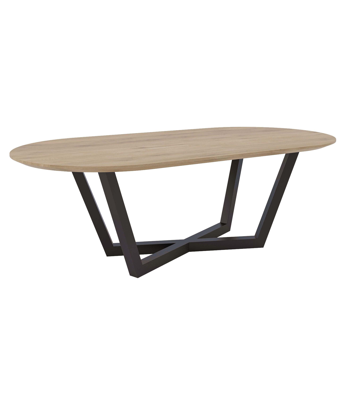 industrialny stół owlany stalowy