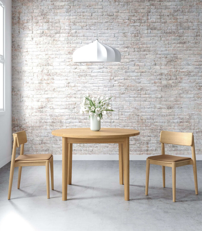 stol okragly w stylu skandynawskim dab naturalny