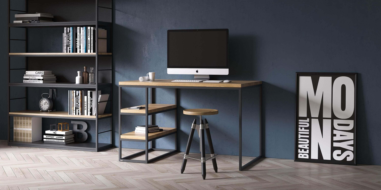 biurko w stylu industrialnym debowe