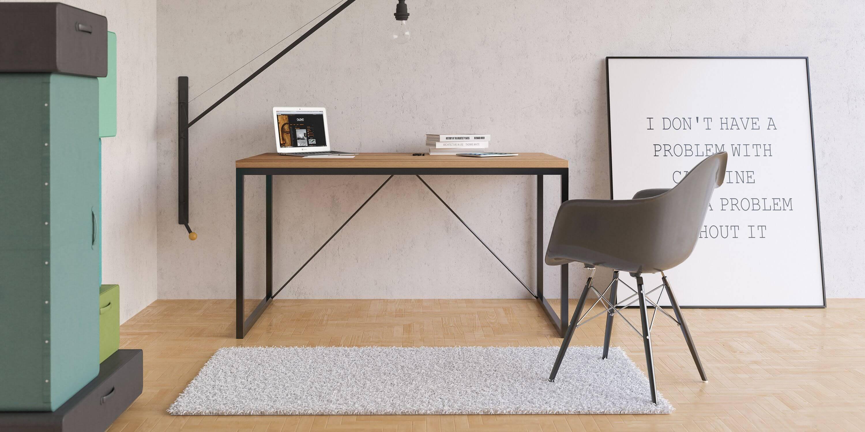 debowe biurko big v