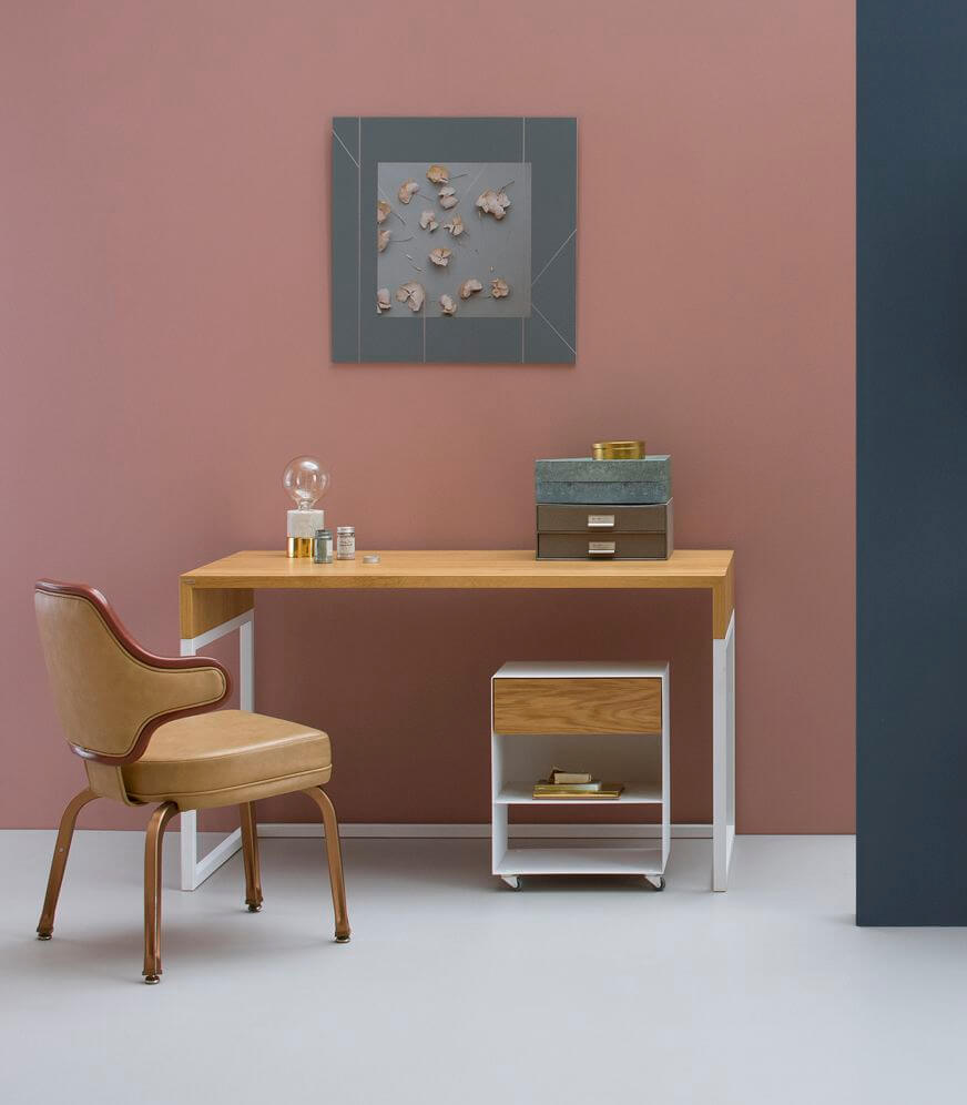 debowe biurko designerskie w nowoczesnym stylu