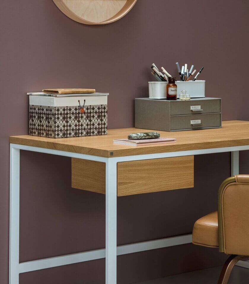 biurko z szuflada debowe nowoczesne