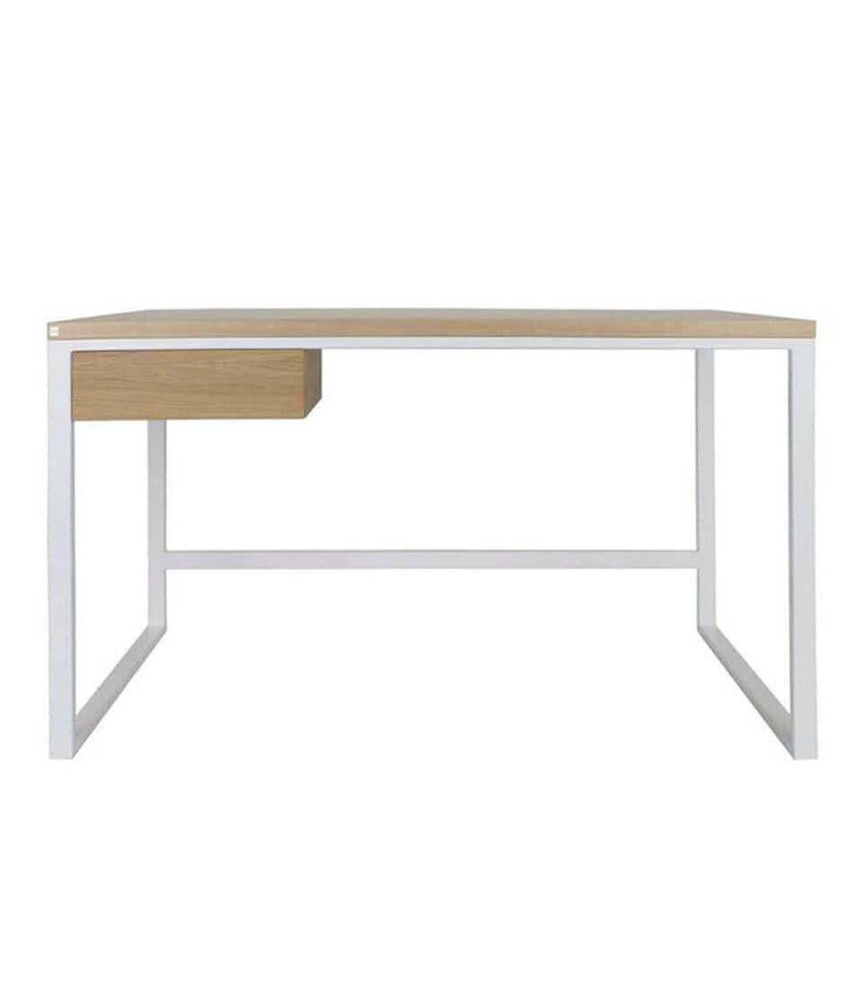 nowoczesne biurko w stylu skandynawskim białe