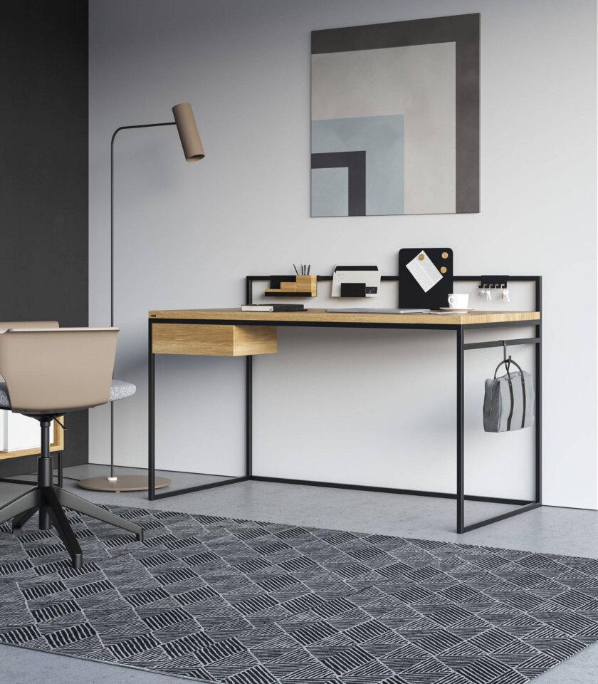 biurko z szuflada debowe home office