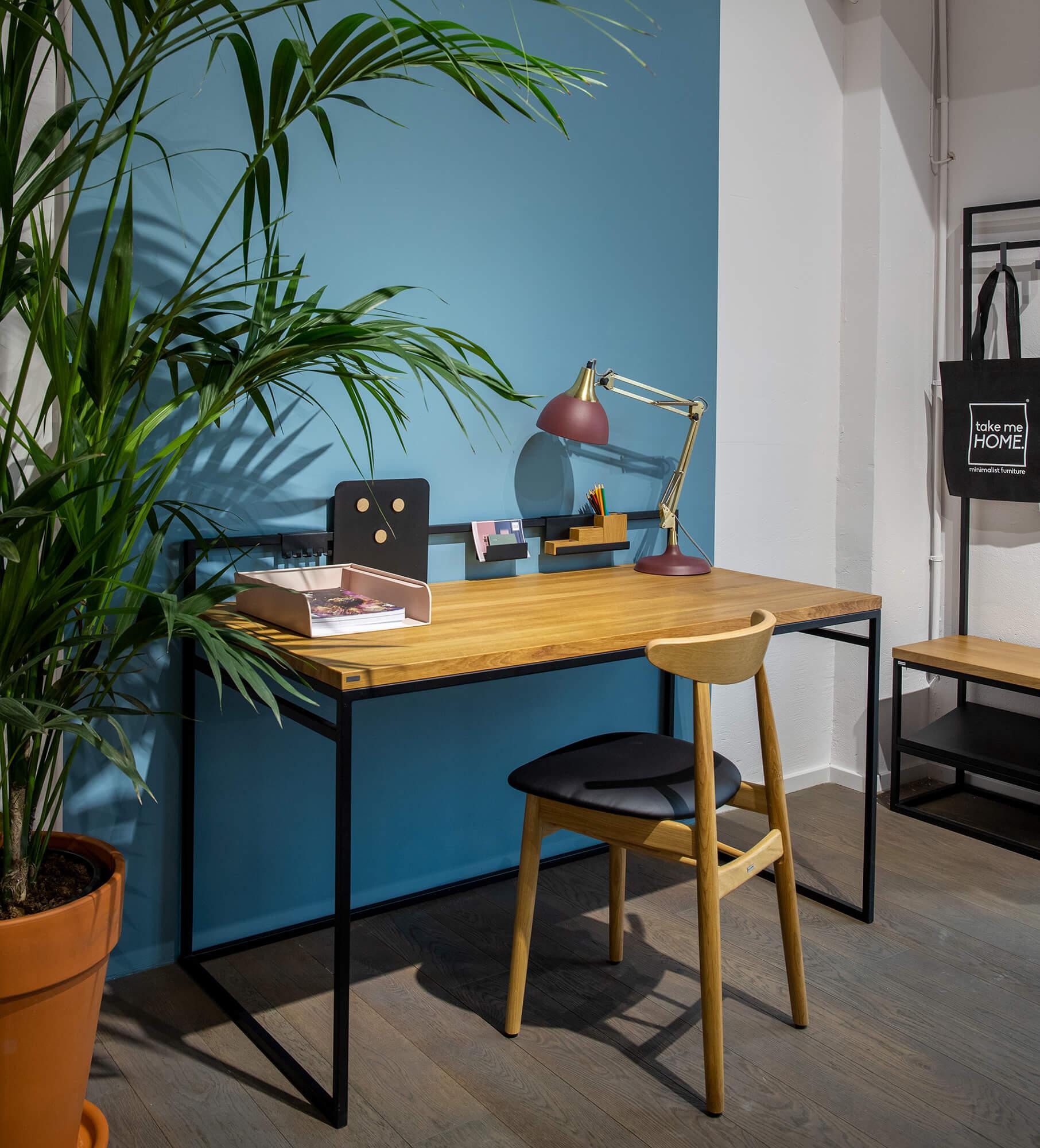 nowoczesne biurko styl skandynawski dab