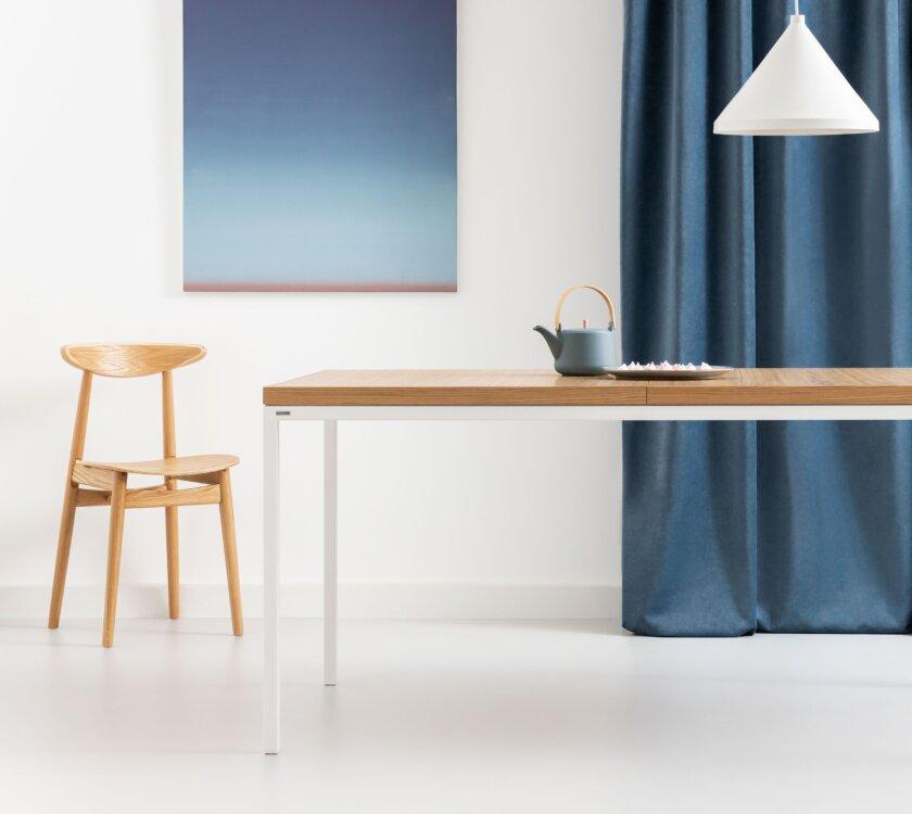 a krzeslo w stylu skandynawskim debowe drewniane