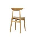 krzeslo debowe prl retro drewno design