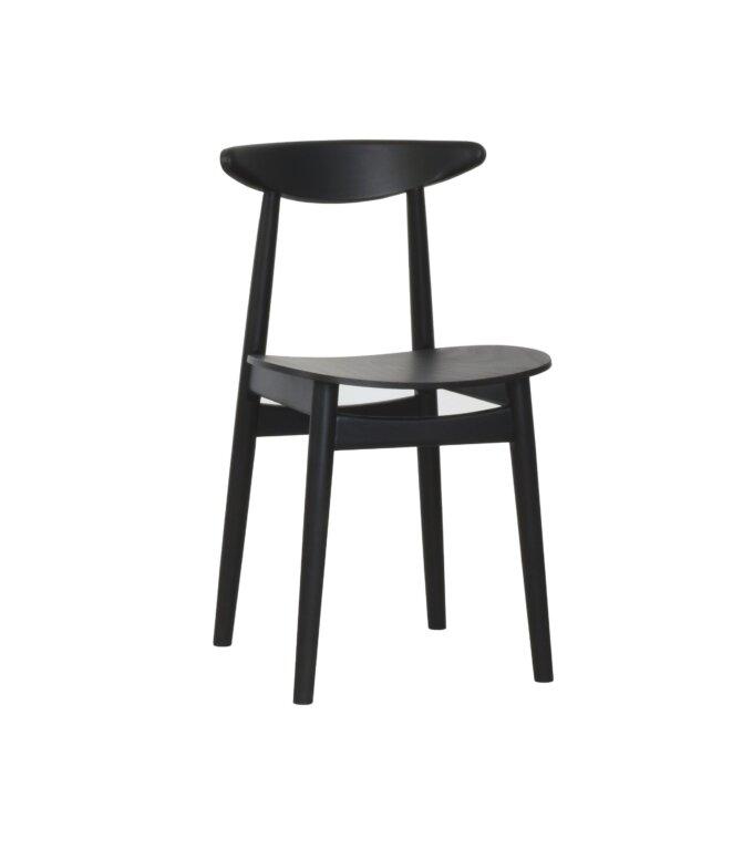 krzeslo czarne drewniane debowe skandynawskie