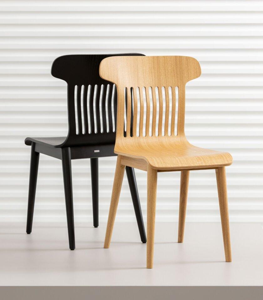 krzeslo w stylu skandynawskim debowe czarne biale