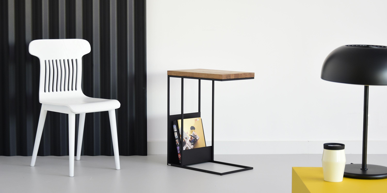biale drewniane krzeslo polski design