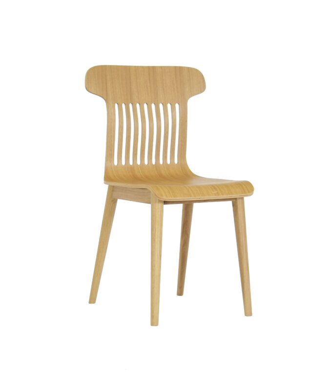 minimalistyczne krzeslo dab naturalne
