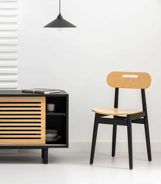 krzeslo czarne debowe skandynawskie