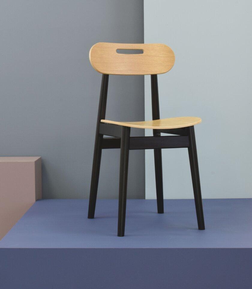 krzeslo dwukolorowe debowe czarne
