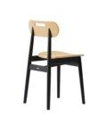 czarne debowe krzeslo nowoczesne