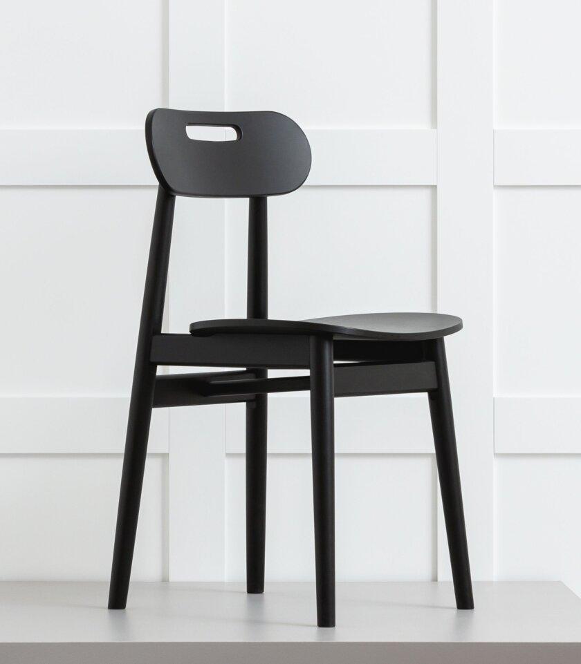 krzesło nowoczesne dębowe czarne