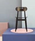 krzeslo w stylu skandynawskim czarne