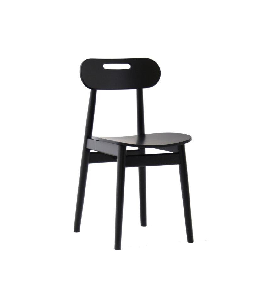 skanynawskie czarne krzeslo