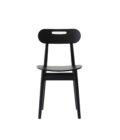 czarne krzeslo drewniane polski design