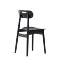 czarne krzeslo drewno skandynawskie