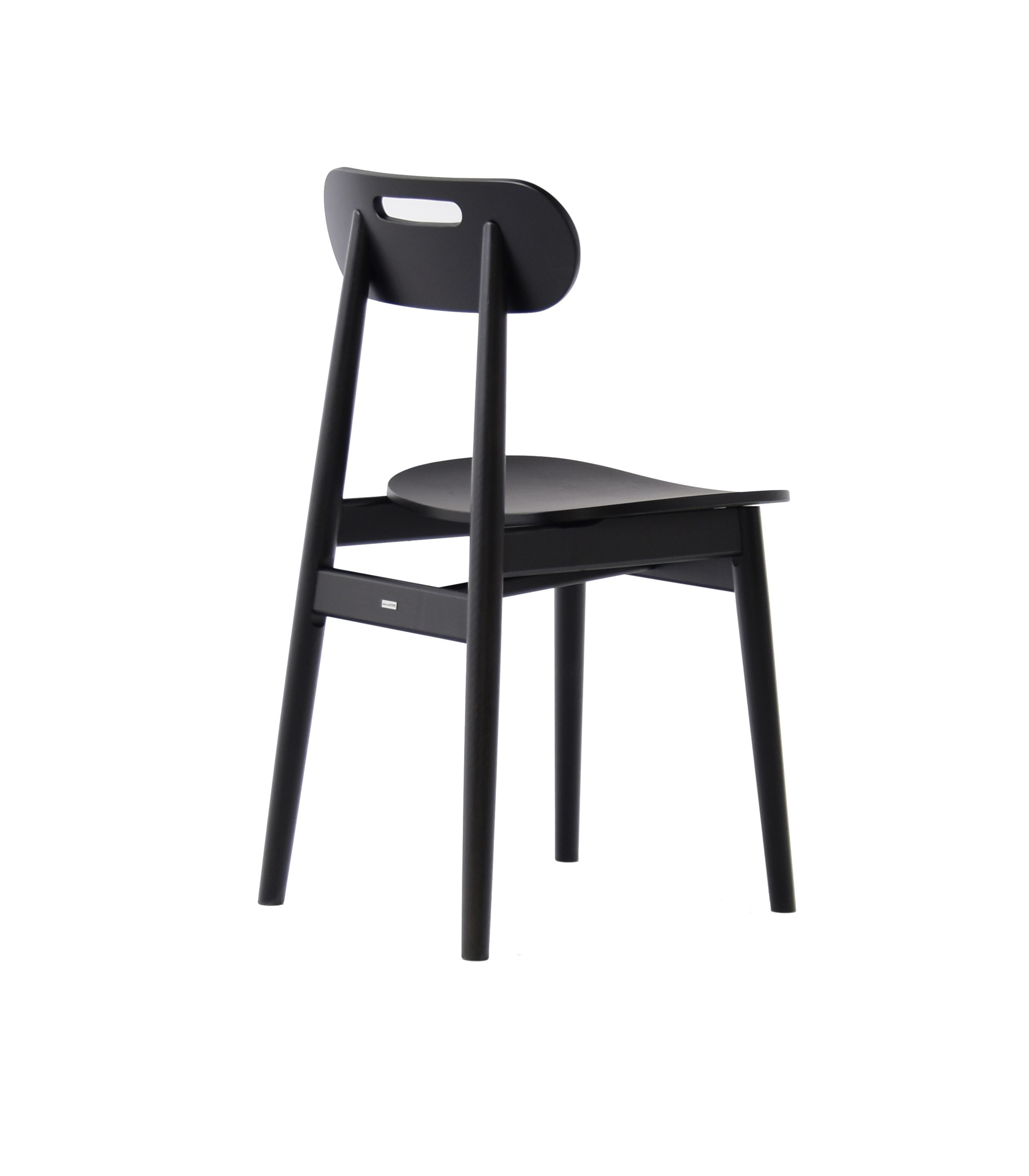 krzesło skandynawskie dębowe czarne